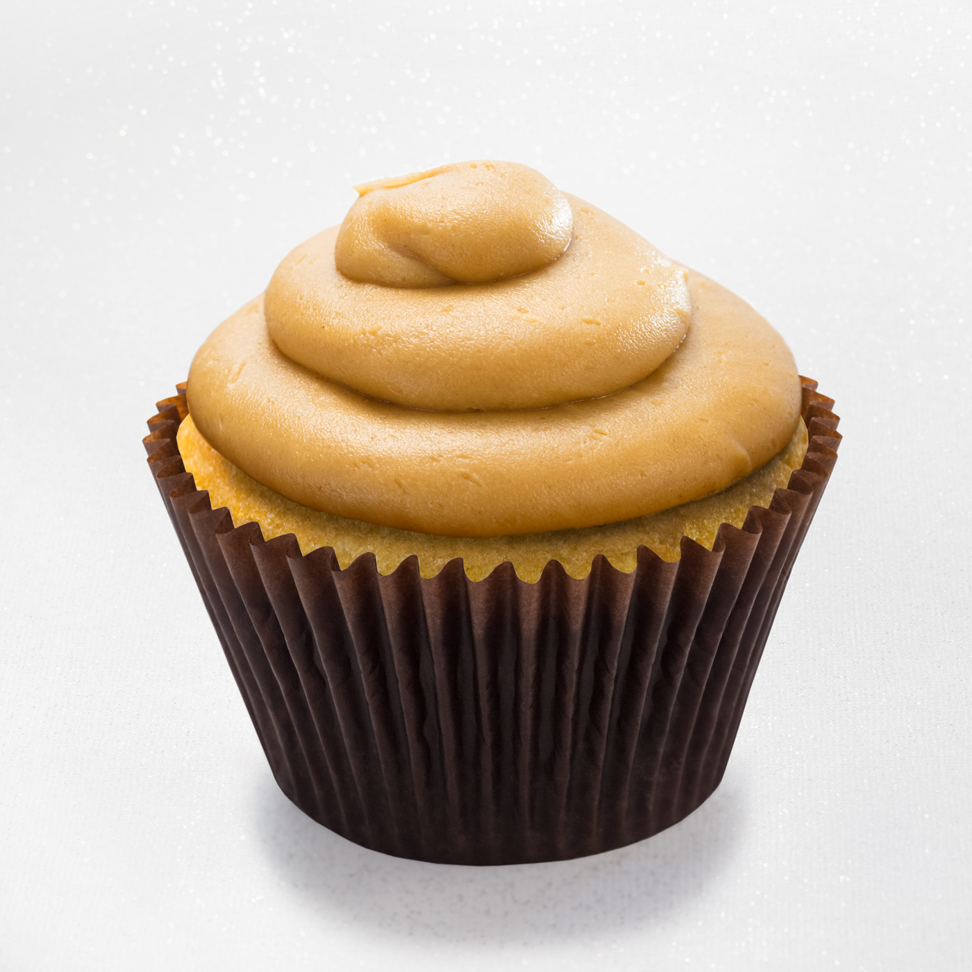 peanut butter cupcake with peanut butter mousse